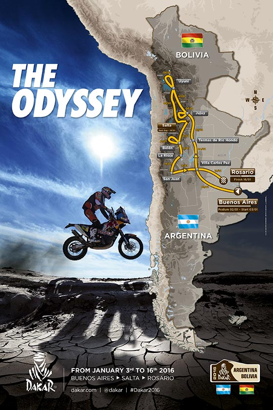 trasa Rally Dakar