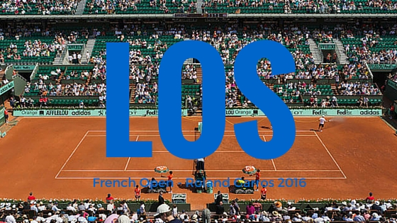 Los tenisového French Open – Roland Garros 2016