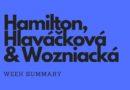 Week summary – Hamilton, Hlaváčková, Wozniacká
