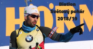 Biatlon program Světový pohár 2018-2019